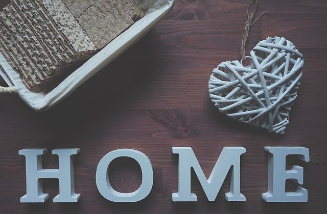 znaky domova, nápis home